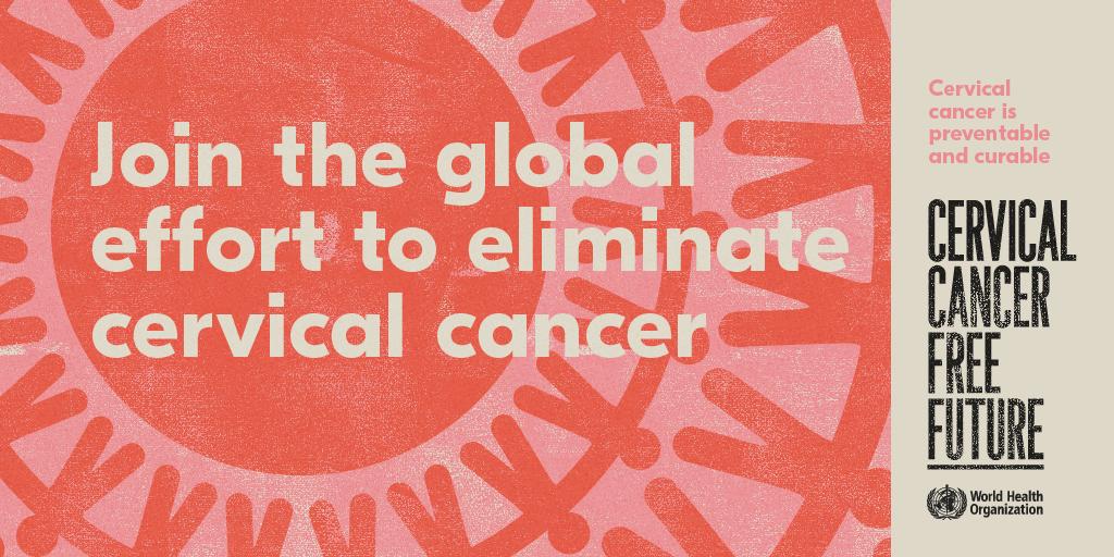 Cervical Cancer social tiles with logo