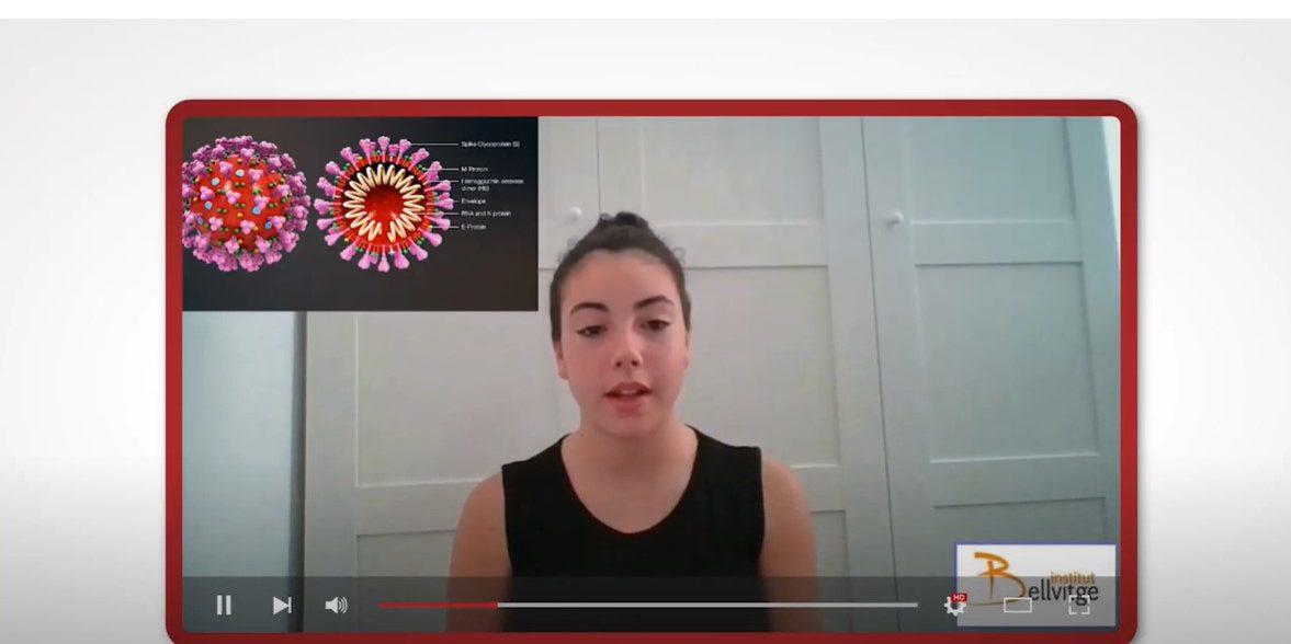 El alumnes d'ESO han fet vídeos sobre la COVID-19